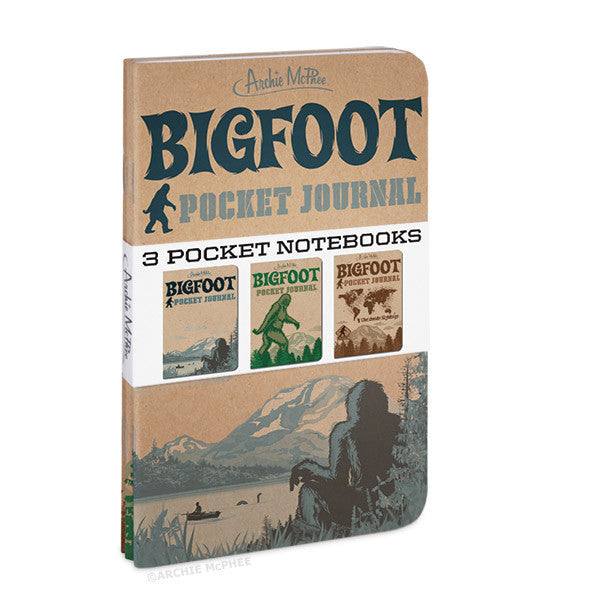 Bigfoot Pocket Journals - Archie McPhee - 2