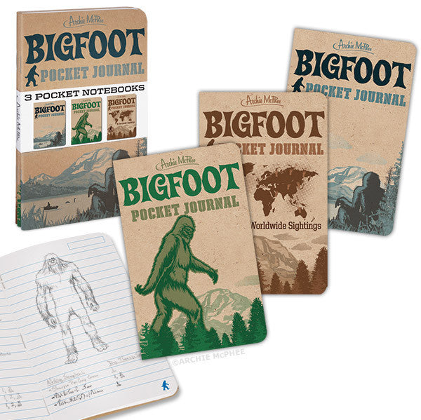 Bigfoot Pocket Journals - Archie McPhee - 1