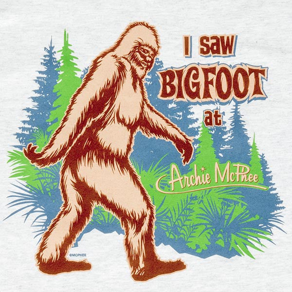 Bigfoot at Archie McPhee T-Shirt-Archie McPhee