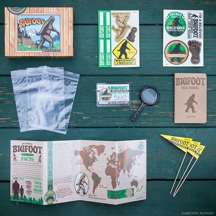 Bigfoot Research Kit-Archie McPhee