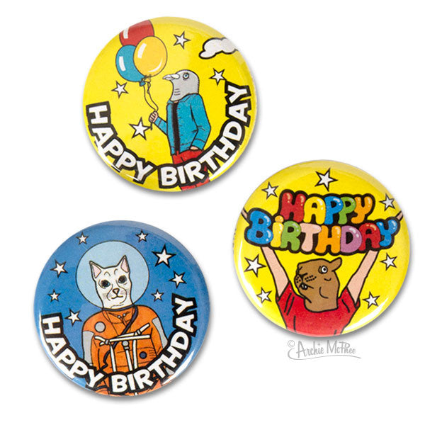 Birthday Buttons-Archie McPhee