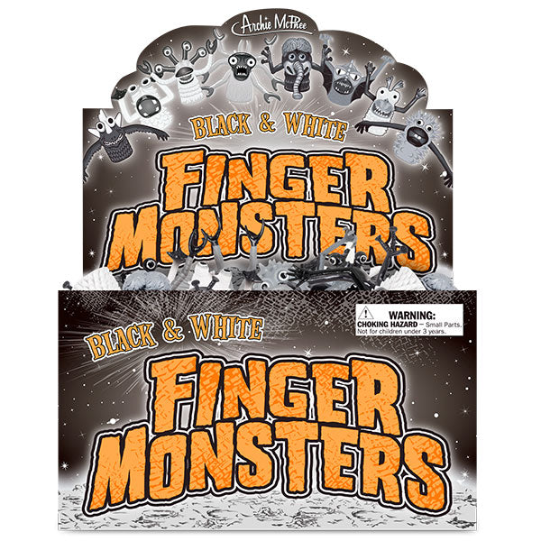 Black and White Finger Monsters - Archie McPhee
