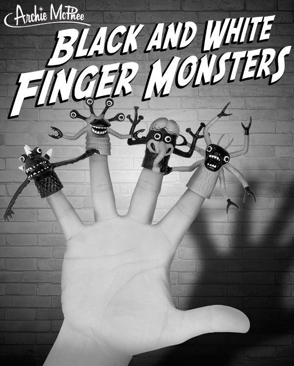 Black and White Finger Monsters-Archie McPhee