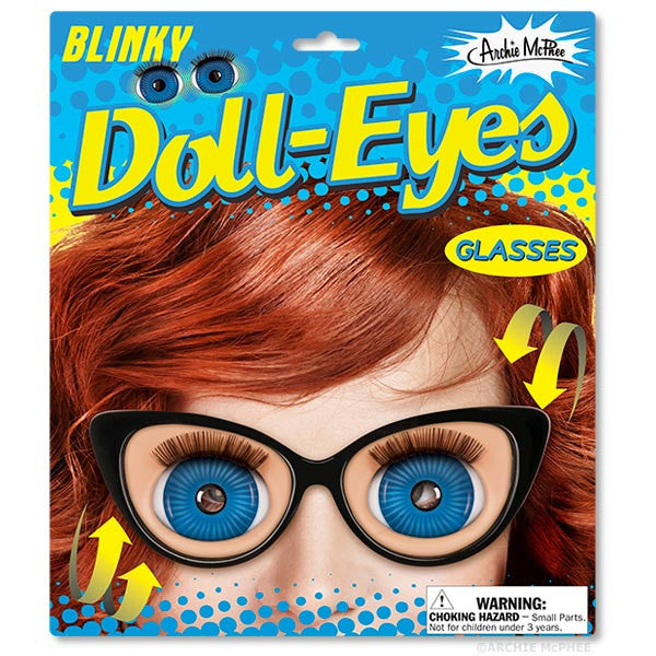Blinky Doll Eyes Glasses-Archie McPhee