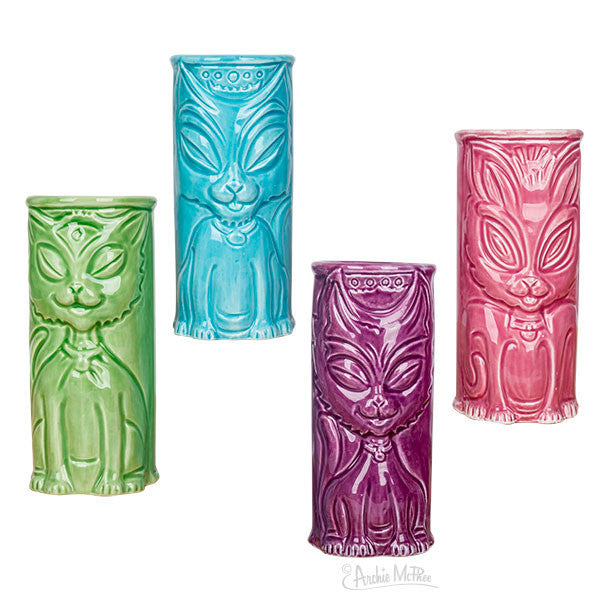 Cat Tiki Mugs-Archie McPhee