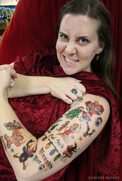 Christmas Tattoos - Archie McPhee - 2