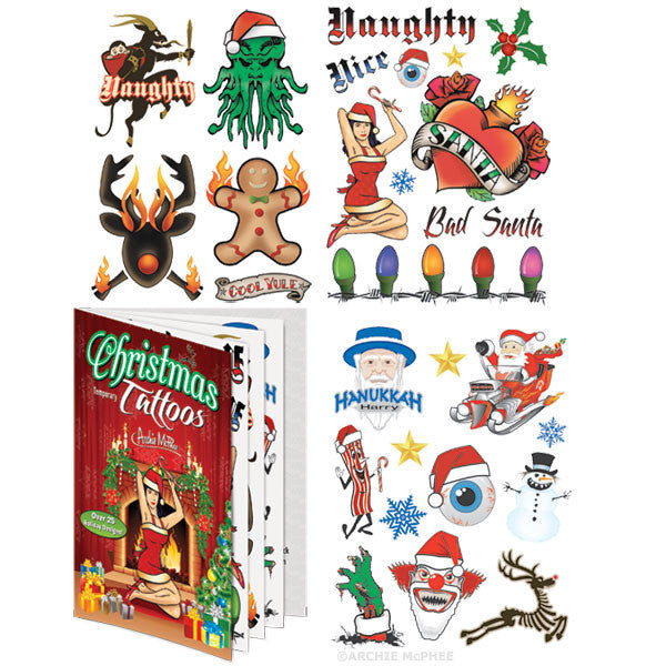 Christmas Tattoos - Archie McPhee - 1