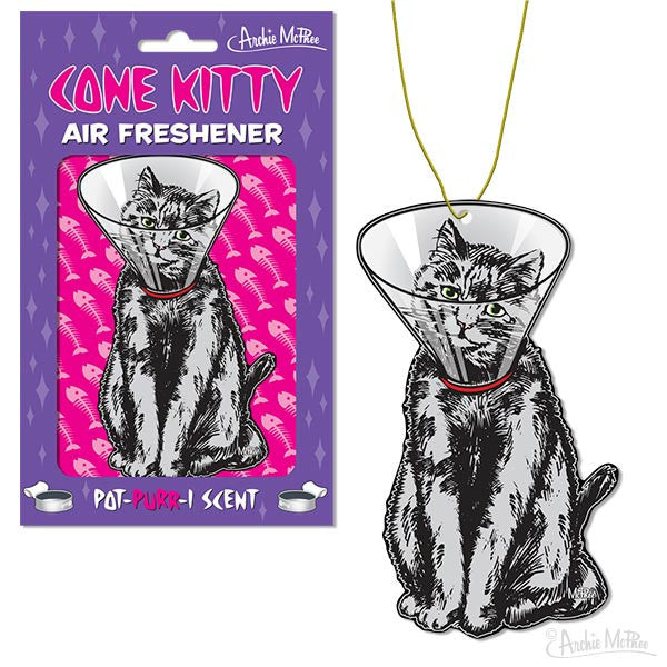 Cone Kitty Air Freshener-Archie McPhee