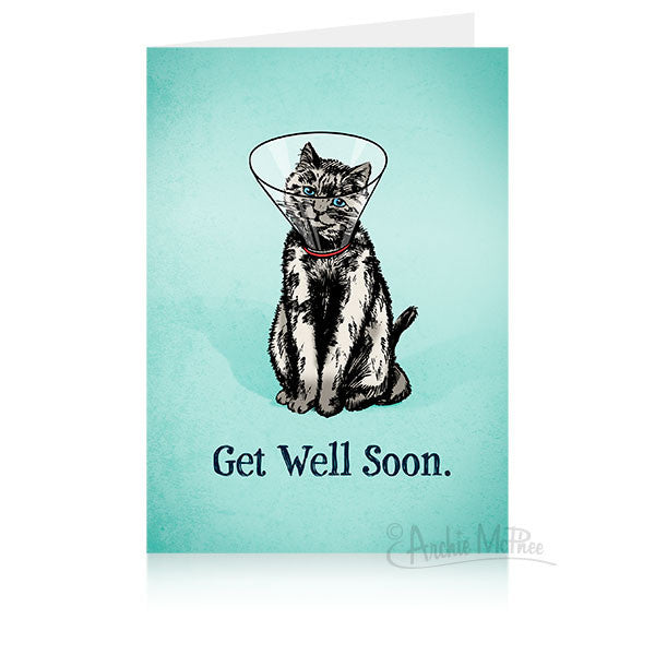 Cone Kitty Get Well Card-Archie McPhee