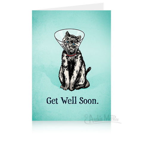 Cone Kitty Get Well Card