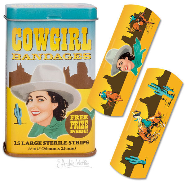 Cowgirl Bandages - Archie McPhee