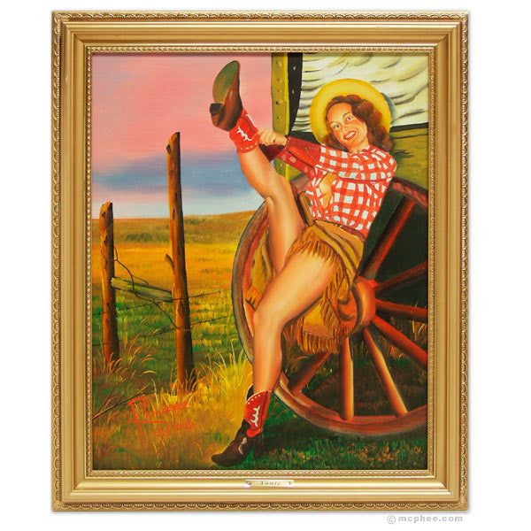 Cowgirl Annie Oil Painting-Archie McPhee