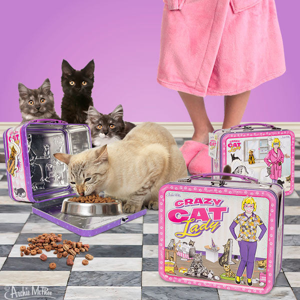 Crazy Cat Lady Lunchbox-Archie McPhee