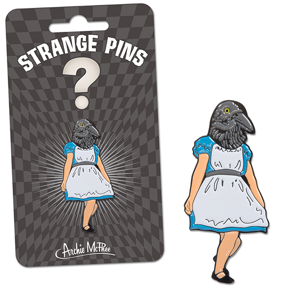Crow Girl Enamel Pin