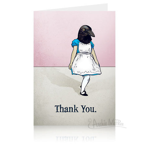Crow Thank You Card