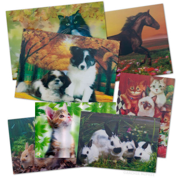 Cute and Cuddly Lenticular Card Set - Archie McPhee - 1