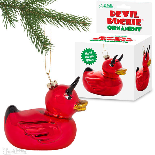 Devil Duckie Ornament-Archie McPhee