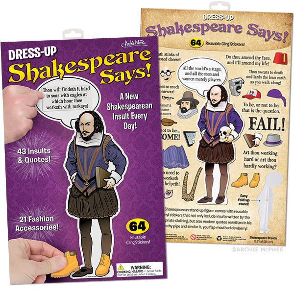 Dress Up Shakespeare Says Archie Mcphee Co
