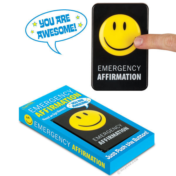 Emergency Affirmation Button-Archie McPhee