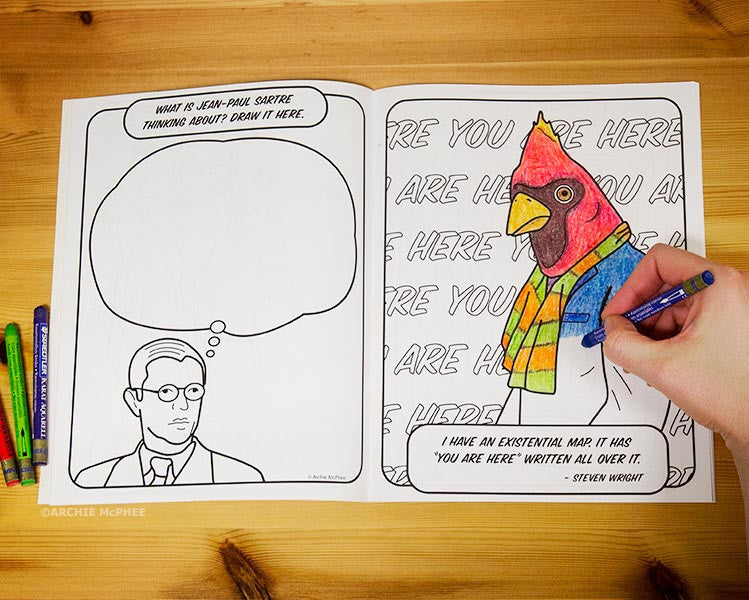 Existential Coloring Book-Archie McPhee