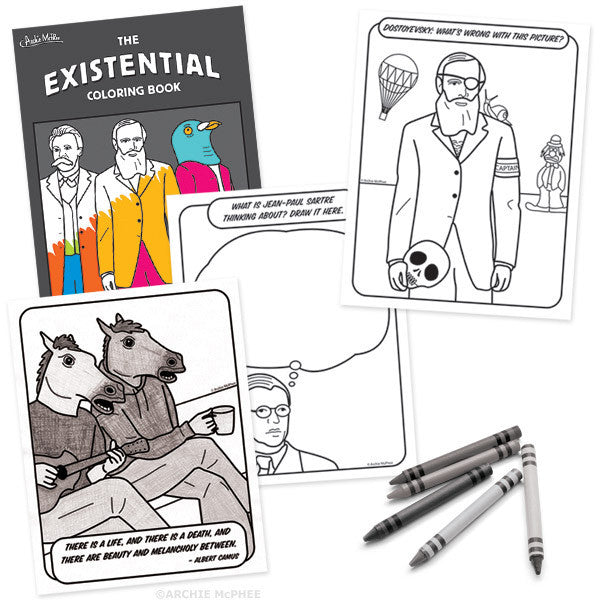 Existential Coloring Book - Archie McPhee - 2