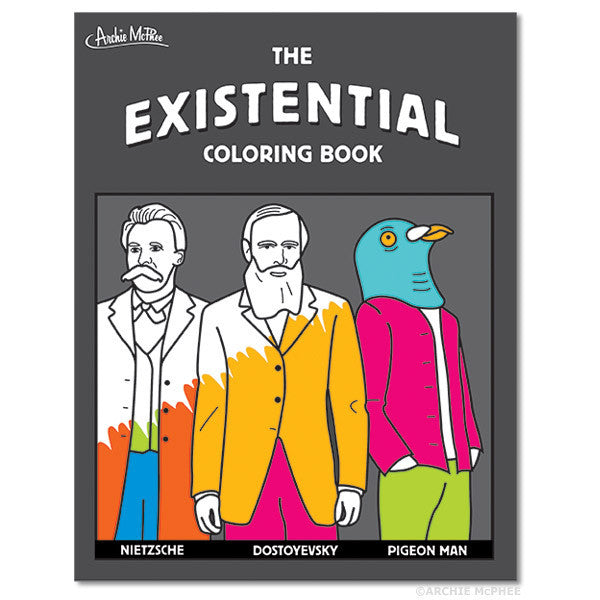 Existential Coloring Book - Archie McPhee - 1