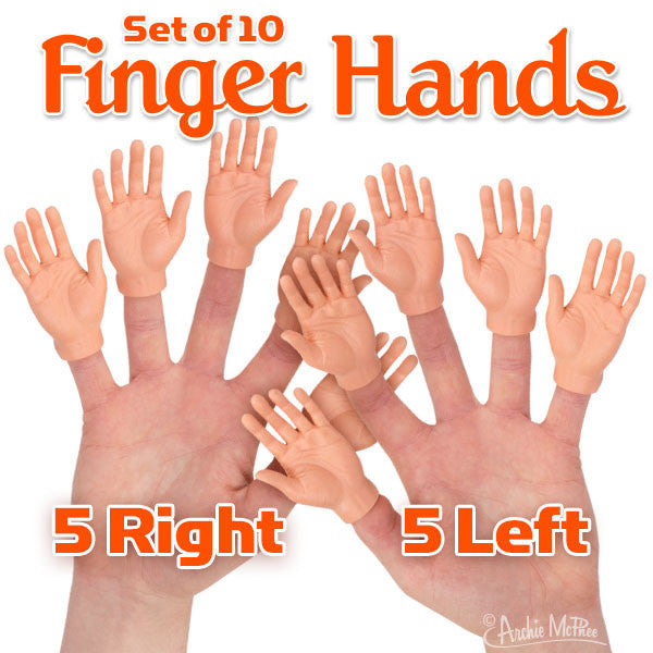 Set of 10 Finger Hands-Archie McPhee