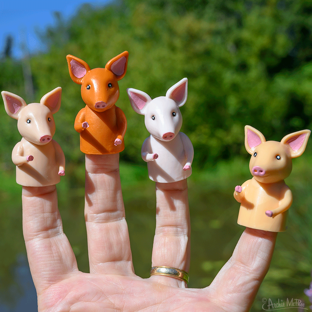 Finger Pigs - Set of 4