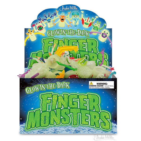 Glow-in-the-Dark Finger Monsters - Bulk Box-Archie McPhee
