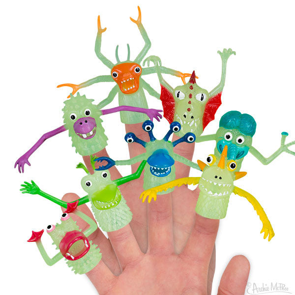 Glow-in-the-Dark Finger Monsters