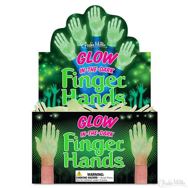 Glow-in-the-Dark Finger Hands Bulk Box