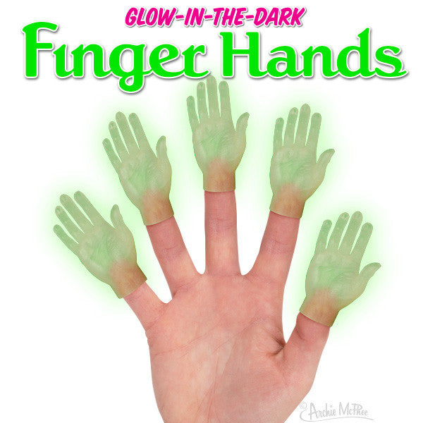 Glow-in-the-Dark Finger Hands