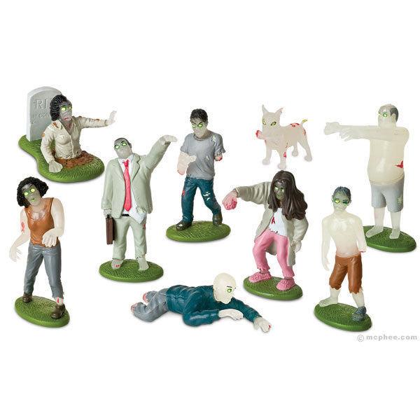 Glow in the Dark Zombies Play Set - Archie McPhee - 1