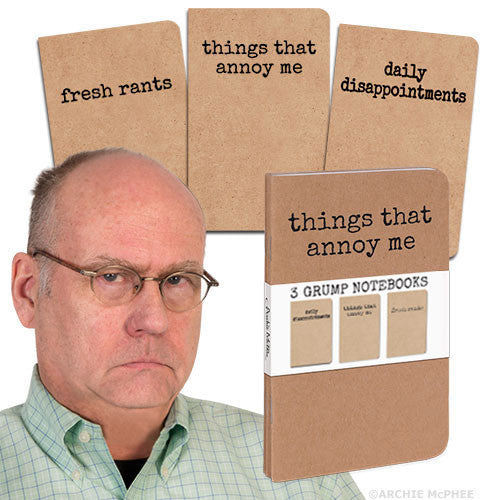 Grump Notebooks-Archie McPhee