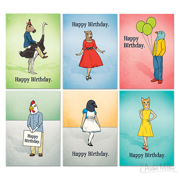 Birthday Cards Box Set - Archie McPhee - 2