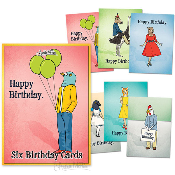 Birthday Cards Box Set-Archie McPhee