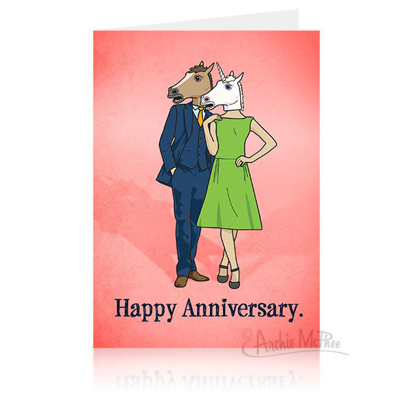 Horse Couple Anniversary Card-Archie McPhee