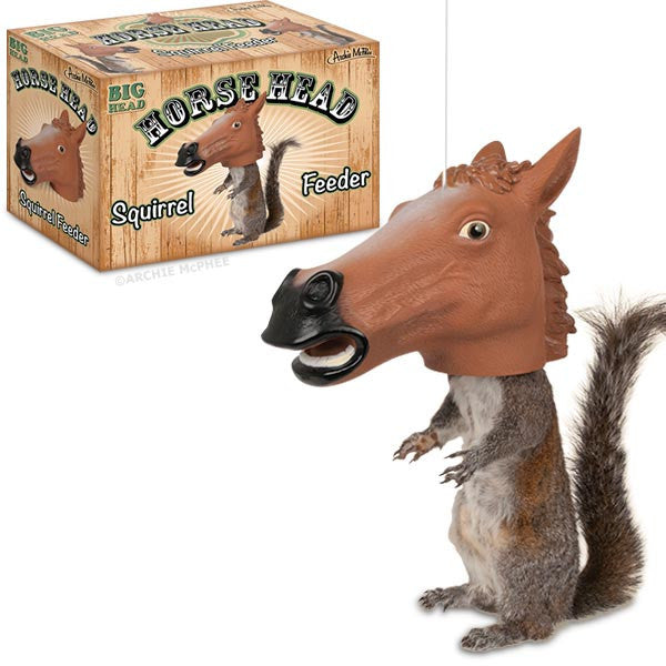 Horse Head Squirrel Feeder Archie Mcphee Co