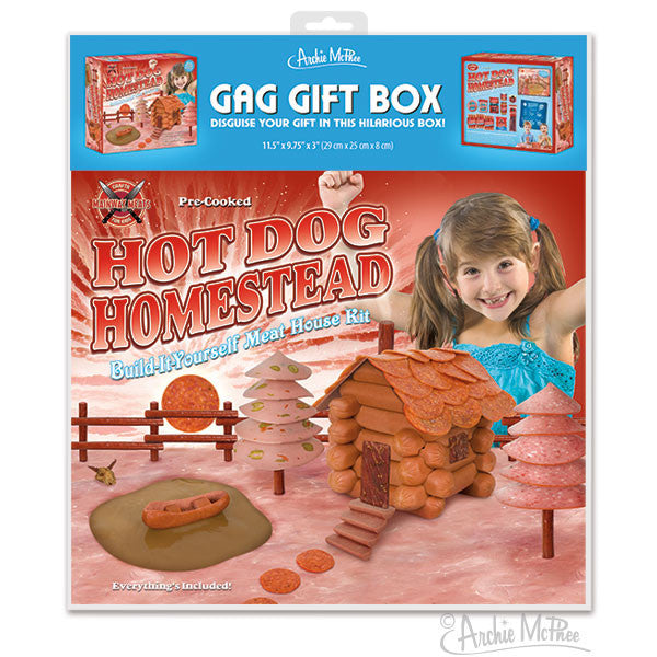 hot dog homestead gag gift box archie mcphee co. Black Bedroom Furniture Sets. Home Design Ideas