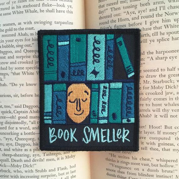 Book Smeller Embroidered Patch