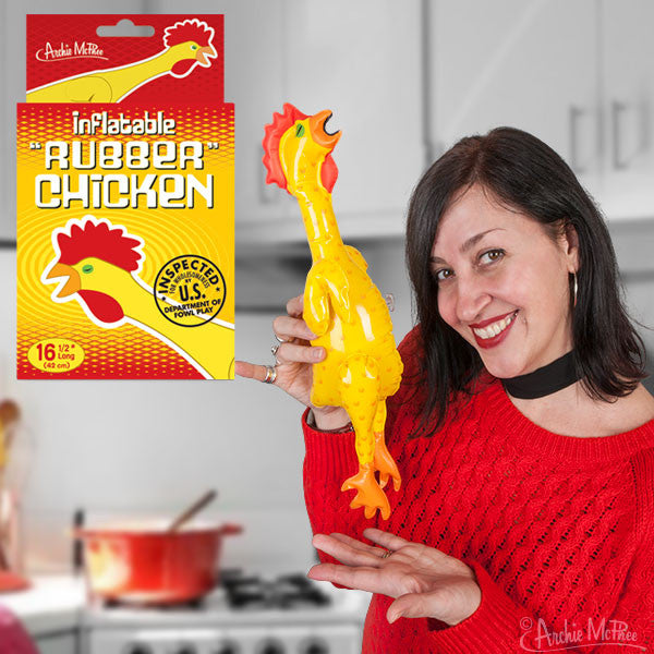 Inflatable Rubber Chicken-Archie McPhee