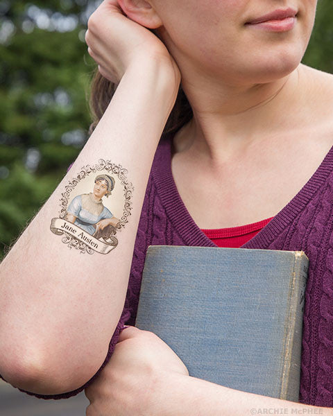 Jane Austen Tattoos - Archie McPhee - 2