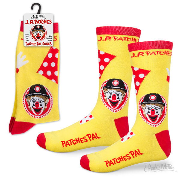 J.P. Patches Patches Pal Socks - Archie McPhee