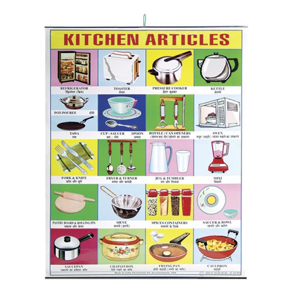 Kitchen Articles Indian Poster
