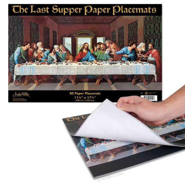 Last Supper Paper Placemats-Archie McPhee
