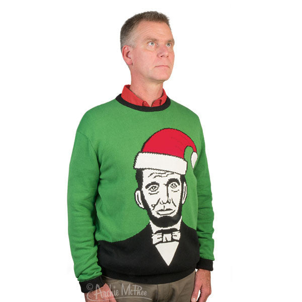 Santa Lincoln Sweater-Archie McPhee