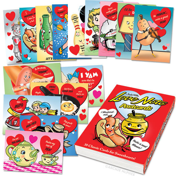 Love Note Postcards Book - Archie McPhee - 2