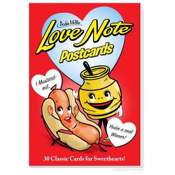 Love Note Postcards Book - Archie McPhee - 1