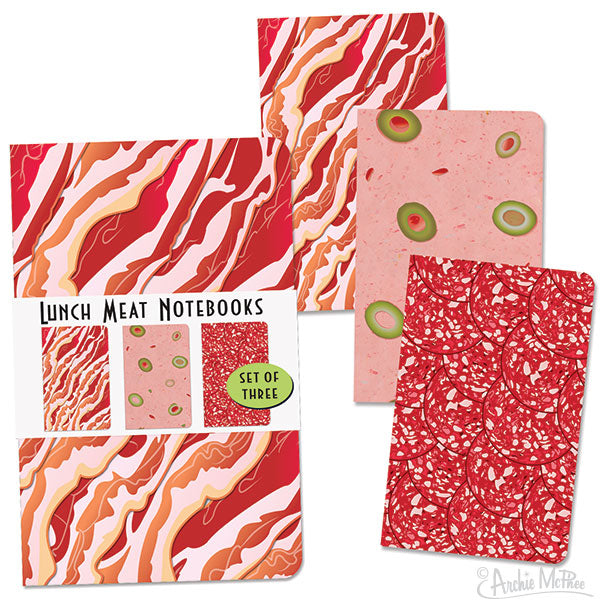Lunch Meat Notebooks-Archie McPhee
