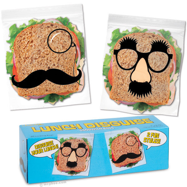 Lunch Disguise Sandwich Bags-Archie McPhee